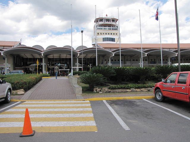 Airport Entrance in Dominican Republic