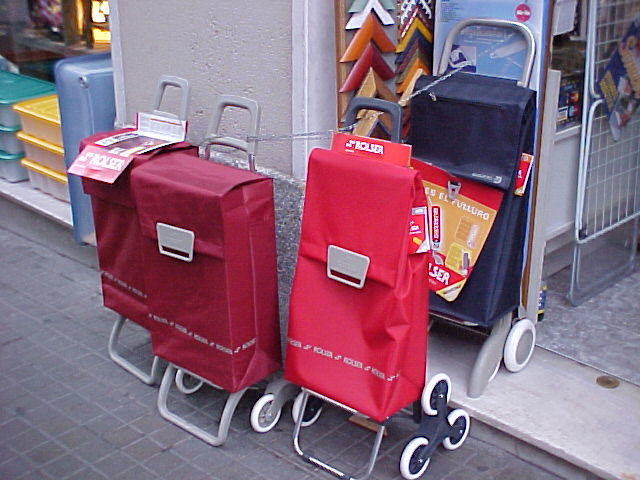 Why you need a 2 wheel cart in Europe?