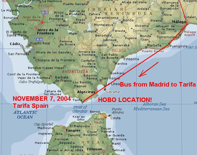 Rota Spain Map journal tarifa