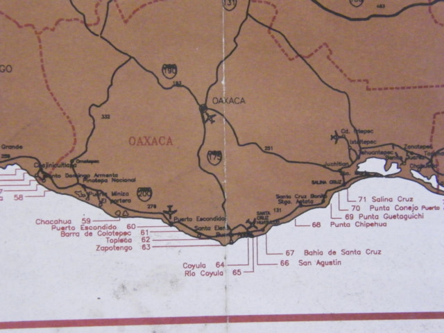 Salinas Mexico Map.Mexico Surfing Maps