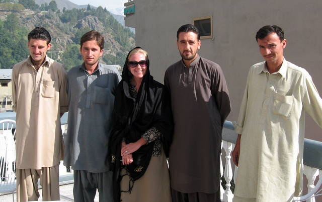 My four government mandated undercover police officers in Pakistan on the border with Afghanistan.