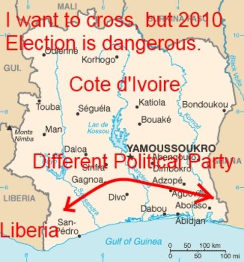 Cote d'Ivoire Election Increases Danger Of Travel To Liberia In 2010 - Adventure