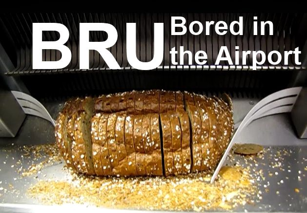 Are you bored sitting in the BRU, Brussels Belgium Airport, then walk down to level two and watch the bread machine, your children would love it.