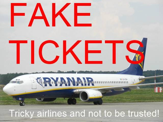 Fake Plane Ticket