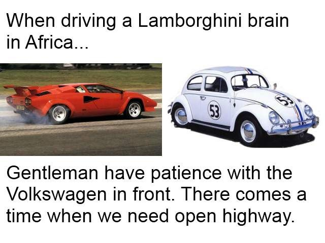 There are Lamborghini brains, and Volkwagens. title=