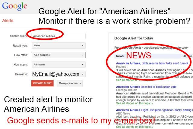 American Airlines Work Strike Monitored With Goggle Alerts