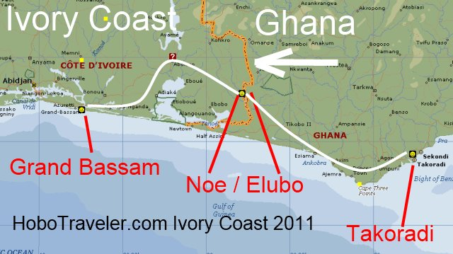 map of ghana west africa. left Ghana West Africa