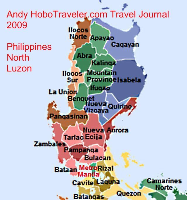 north part of the map of the philippines with provinces
