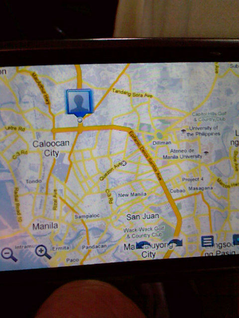 Where am i verizon blackberry and google maps i took this photo with my cell phone i was located at the north end of this gigantic city called manila philippines gumiabroncs Gallery