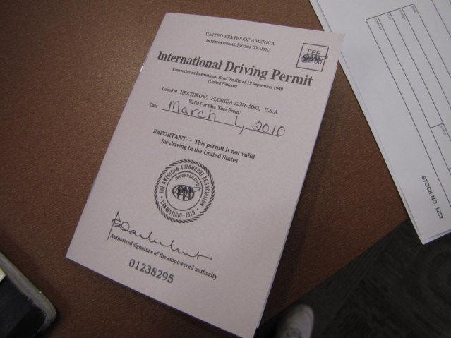 International Drivers License 15 Dollars