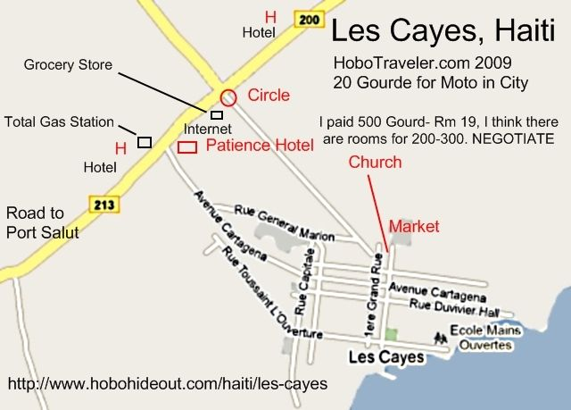 Map Les Cayes Haiti