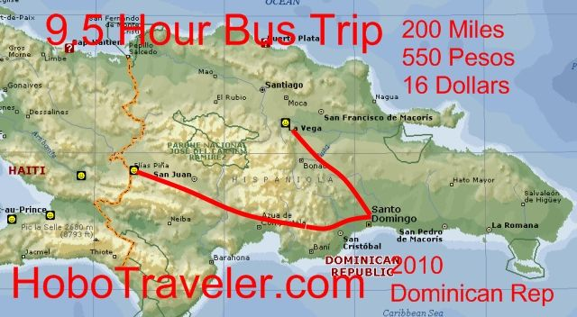 Map of Santo Domingo Bus Bounce