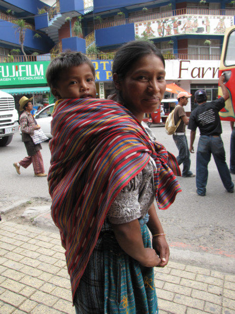 Baby Carrier System Using Length Of Cloth In Guatemala