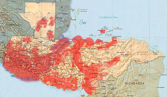 Map Of The Tigo Or Comcel Coverage In Guatemala Gsm As Of 2010 This Will Increase And Normally Underdeveloped Countries Have Better Cell Phone Coverage