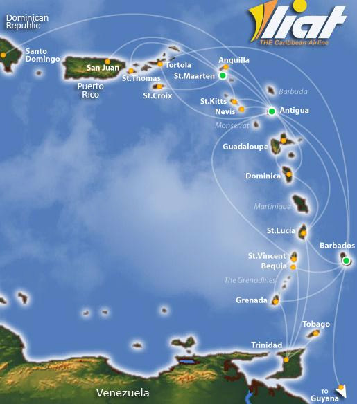 Who Flies To St Kitts: Caribbean Island Hopping Airlines Liat Air