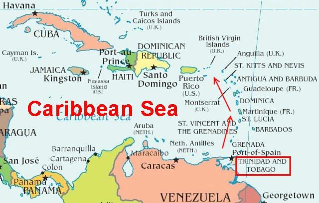 Trinidad Permission To Come Aboard Map Of Caribbean Trinidad