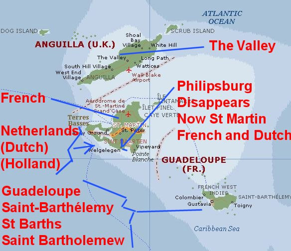 Caribbean Tour Is It City Or Country Map Big Anguilla