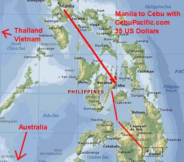 Living In Cebu Cebu Davao Map Philippines