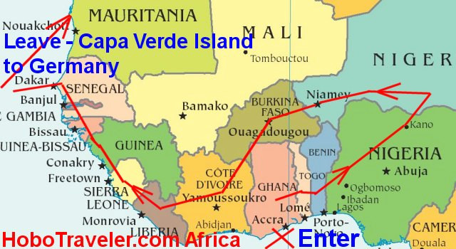 Africa Visas Chain Of Events   Map Of Northwest Africa, Thailand