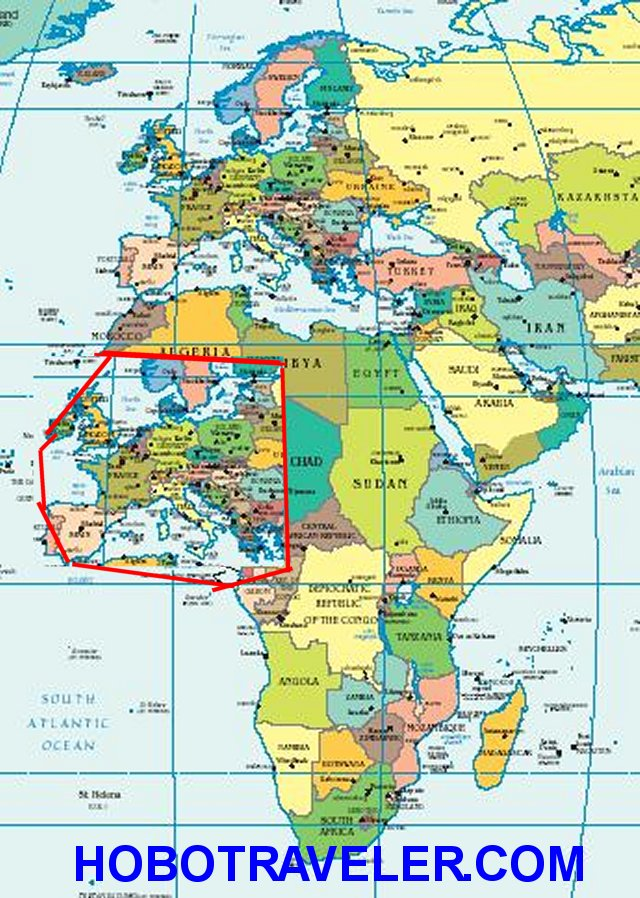 Africa Countries Looks Small Africa Map Compared To Europe Ivory