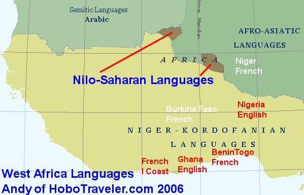 Natural Africa Travel Paths Language Map West Africa Ivory Coast - African language map