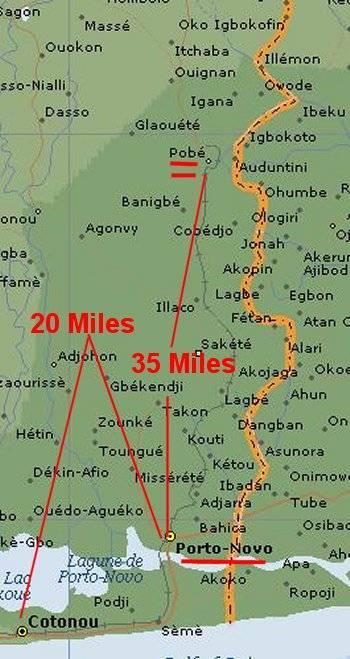 Porto Novo Benin West Africa - Map Porto Novo Pobe Benin, Benin Porto-Novo Map