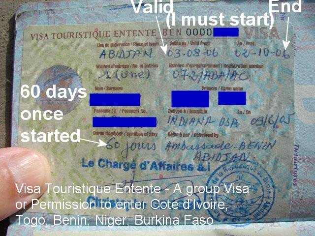Visa Entente in West Africa