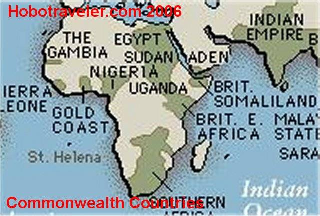 Africa commonwealth countries map africa commonwealth map benin sciox Gallery