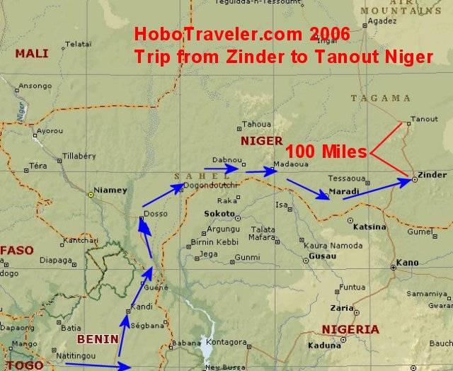 Trip To Tanout Niger Map Zinder To Tanout Niger Niger