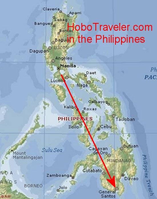 General Santos City Philippines Map
