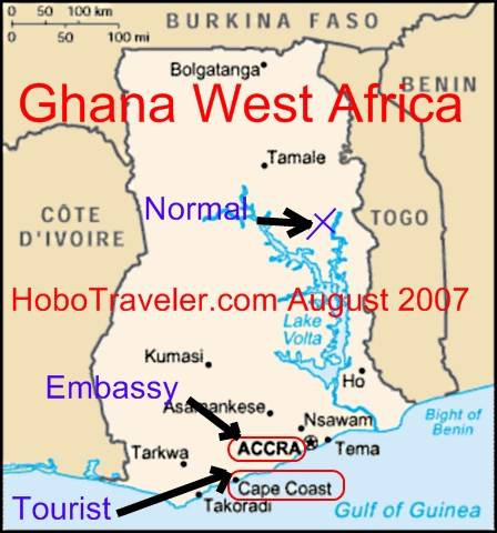 map of ghana west africa. In West Africa, a different