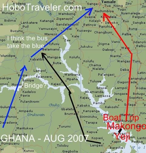 Yeji Ghana Mampong Yeji Tamale Map Ghana