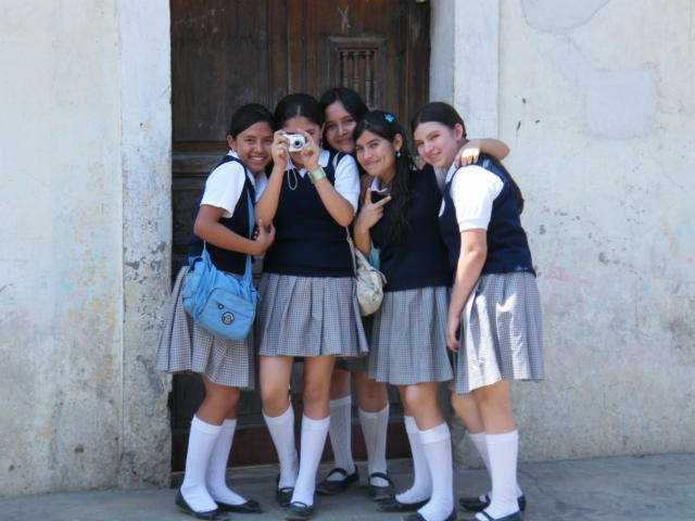 Guatemala School Girls Are Tourist