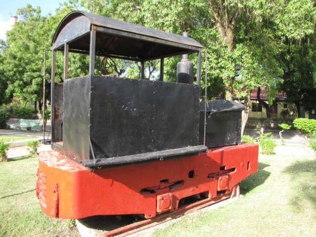 Train in Central Park of Montellano Dominican Republic