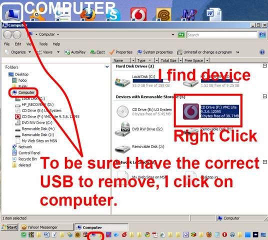 Computer USB Removal