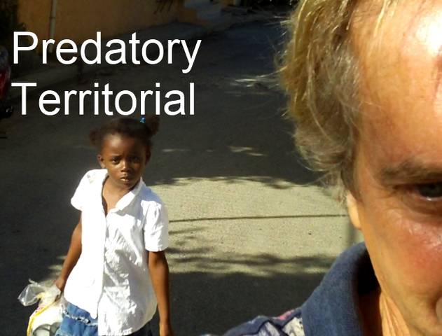 Video of Small Predator Haitian Girl Following Me to Mark Her Territorial Right to the Area. title=