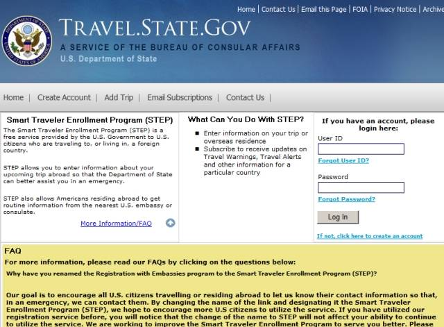 Should We Register With the USA Embassy Or Smart Traveler Enrollment Program (STEP)