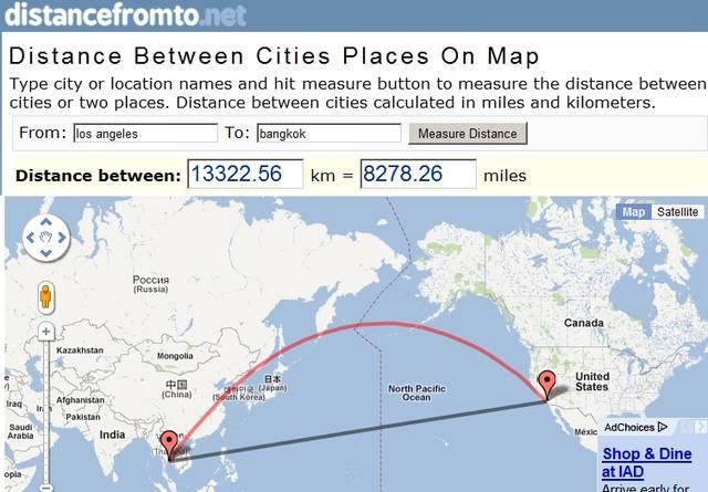 Distancefromto.net