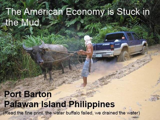 American Economy Stuck in Mud