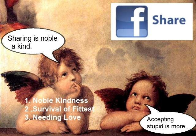 Favebook likes is noble