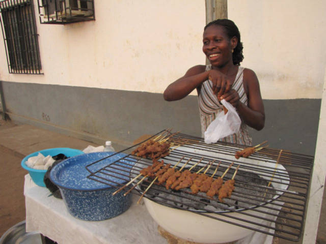 Brochettes In Lome Togo West Africa