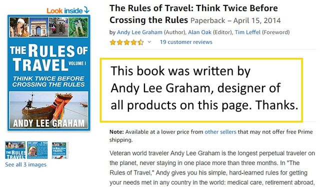T?he Rules of Travel Book by Andy Lee Graham