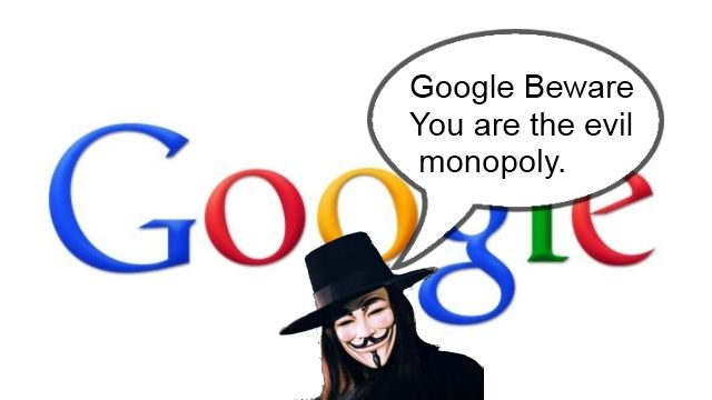 Google is a monopoly that terrorizes small internet sites, and everyone is afraid to talk, because we need google.