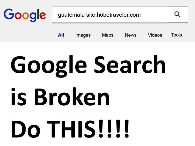 Google Search is Broken