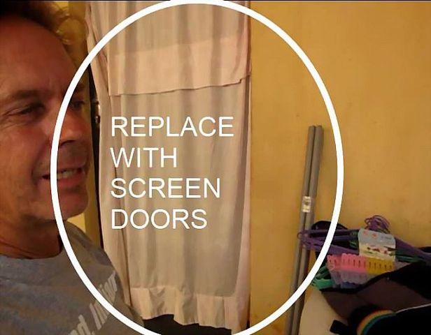 Stop door sheets for mosquitoes