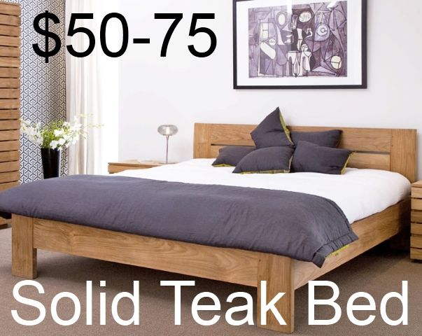 Solid Teak Bed