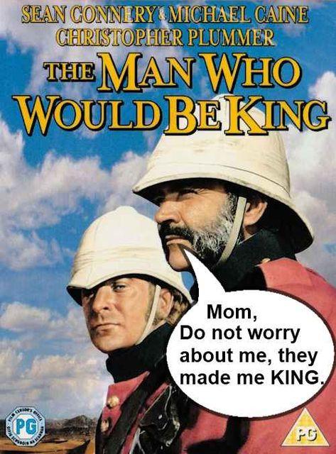 King abroad