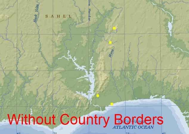 Benin Togo Maps
