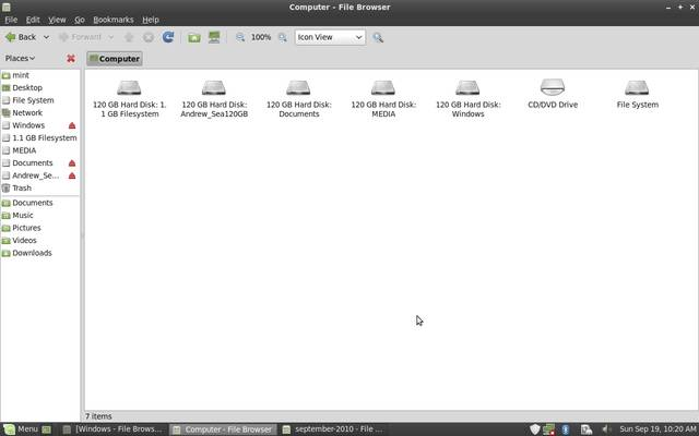 Backup a Microsoft Windows Computer using Linux Mint