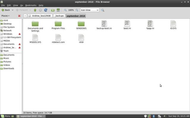 Browser an External USB Hard Drive on Linux Mint
